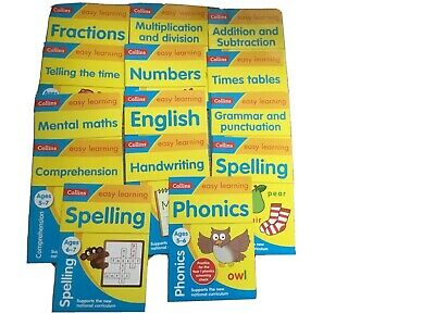 collins easy learning 5-7 Books Year 1 Year 2 Home Learning KS1 Workbooks Maths