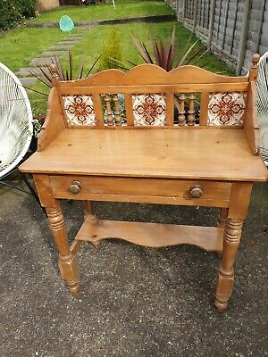 Vintage Old Rustic Victorian Pine Washstand Table Unit We Can Deliver