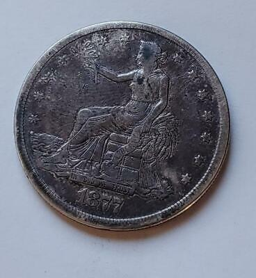 1877-S Trade Dollar - Fine - 420 Grains .900 Fine Silver