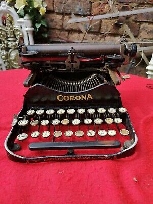 Antique early 20th century corona number 3 Folding Typewriter