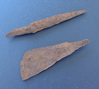 Scythian Vikings arrowheads 7 - 2 nd century BC Iron. RARE. ORIGINAL