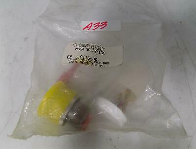 Itt Cannon Electric Connector Plug Ms3476L12-1Os Nib