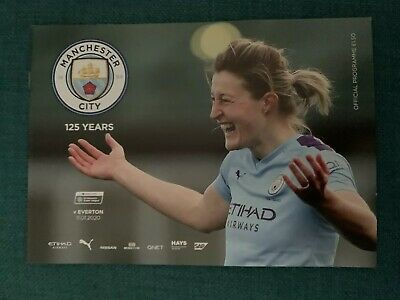Man City FC Women v Everton FC Women Programme (Sesson 2019-2020)