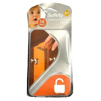 Safety 1st 14 Pack Cabinet & Drawer Latches Child Proof HS204 New Sealed