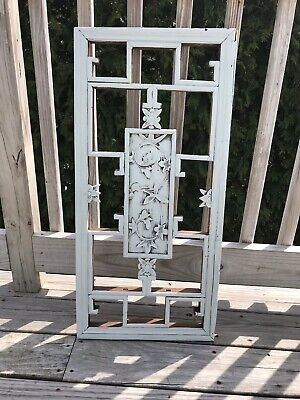 Antique carved wood plac,  Salvage dream, Very detailed, chalk paint