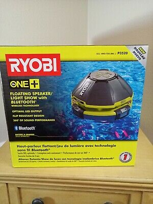 NEW RYOBI 18-Volt ONE+ Floating Speaker Light Show w/ Bluetooth - NO BATTERY