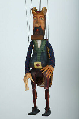 King handcrafted Wood Marionettes Art Puppets Original