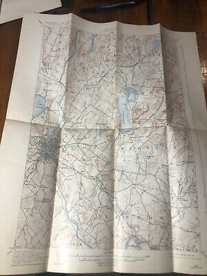1932 Lewiston, ME Maine USGS Topographic Topo Map Webster Wales Greene Auburn