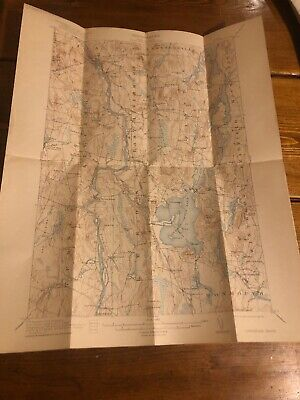 1921 Livermore, ME Maine USGS Topographic Topo Map Public Utilities Commission