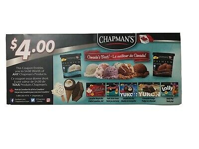 Save on CHAPMAN'S Products  1x $4.00  (Exp: December 31, 2021)