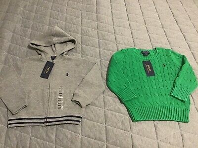 Ralph Lauren kids hoodie & cable knit 2T NEW TAGS
