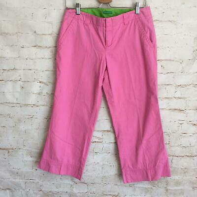 Lilly Pulitzer Women's Size 6 Pink Palm Beach Fit Capri Cropped Pants