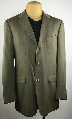 Tommy Hilfiger Mens Blazer 41L 3-Button 100% Wool Made In Usa Suit