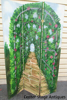 52937   Hand Painted 3 Section Dressing Screen Room Divider Shabby Style