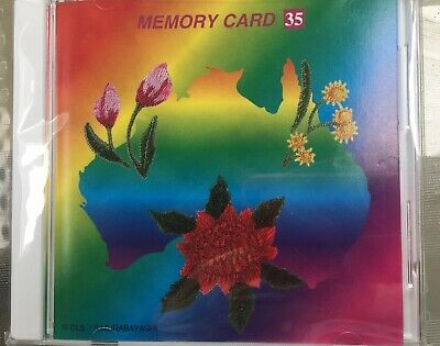 Janome Sewing Machine Embroidery Memory Card 35 Australian Floral Series Craft