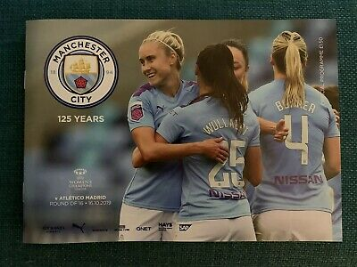 Man City Women FC v Atletico Madrid FC Programme (Season 2019-2020)
