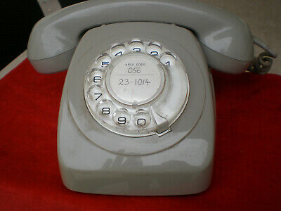 Vintage and Rare Rotary-Dial Gray color Telephone.Very good condition