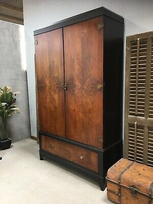 Wardrobe / Vintage Walnut 2 Door Wardrobe
