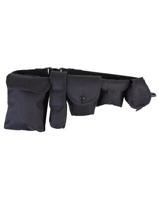 Kombat Black Security / Police Patrol Belt System with 5 Pouches - up to 48 inch