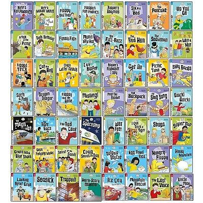 Biff, Chip and Kipper Read with Oxford Phonics Stage 1,2,3 Collection 56 Books S
