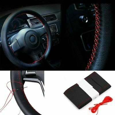 Universal Steering Wheel Cover Knitting Kit Leather Punched for BMW X Series X1