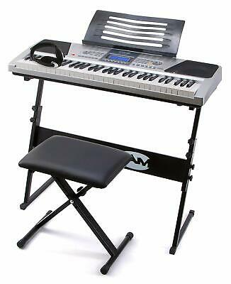 Keyboard RockJam RJ661-SK E-Piano digital Super Kit 61 Tasten Instrument Musik