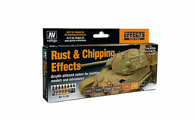 Vallejo Airbrush Model Air Set Rust & Chipping Effects Set (8)