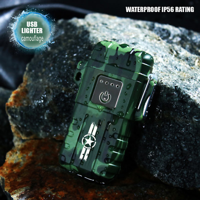 Dual Arc Plasma Flameless Waterproof Outdoor Electric USB Rechargeable Lighter