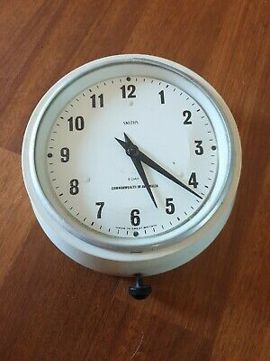 Vintage Commonwealth of Australia mechanical 8 day School Clock