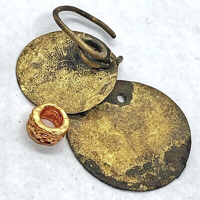 Medieval Gold Gilded Artifacts Byzantine Empire European Antiquity Relics Old