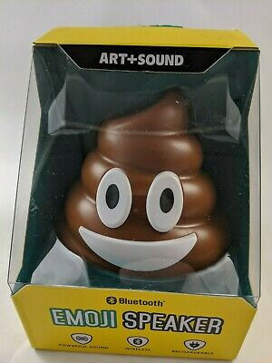 Art and Sound Poop Emoji Bluetooth Wireless Rechargeable Speaker New in Package