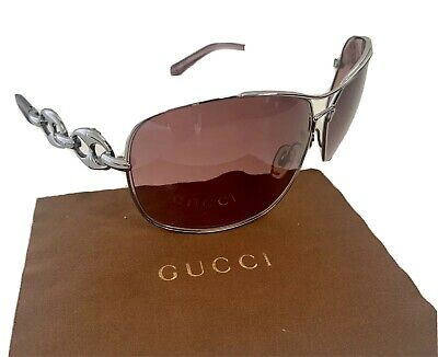Authentic GUCCI Oversized AVIATOR Style CHAIN LINK Sunglasses GG 2775/S