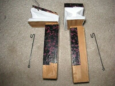"""Vintage 4-1/2"""" pair Forest Cuckoo Clock new paper Bellows, tube, 2xwires. German"""