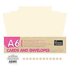 NEW Couture Creations, A6, Cream Cards and Envelopes, 50 Pack