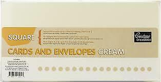 """Couture Creations, Square (6""""x6""""), Cream Cards and Envelopes, 50 Pack"""