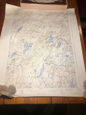 1939 Liberty,ME Maine USGS Topographic Topo Map Palermo Montville Lake St George