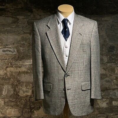 Burberry Glen Check Plaid Mens Wool Sport Coat Size 40R For Saks Fifth Ave