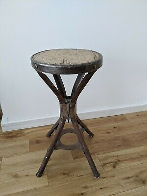 Evertaut Machinist Factory Stool - Industrial Vintage Stool Side Table