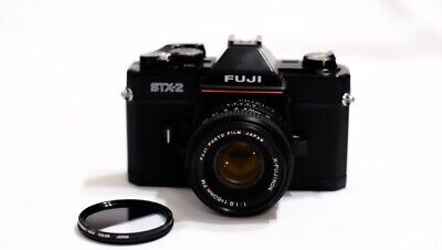 Fuji STX-2 35MM Film Camera w X-Fujinon 50mm f1.9 Lens - TESTED Free Portra 800!