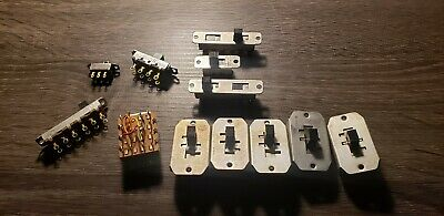 Lot of 12 Switchcraft Slide Switches