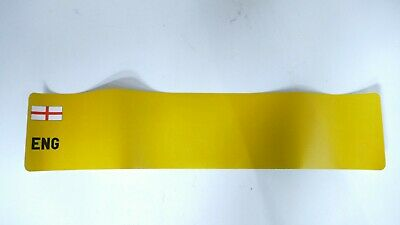 England Number Plate Backing White & Yellow Reflective Blank 94310000023