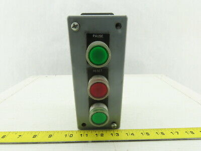 ElectroMate E3PBGM Electric Enclosure 3 Button Red & Green Momentary