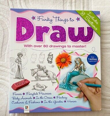 Funky Things To Draw Fairies Princesses Baby Animals Horses Learn Drawing Book