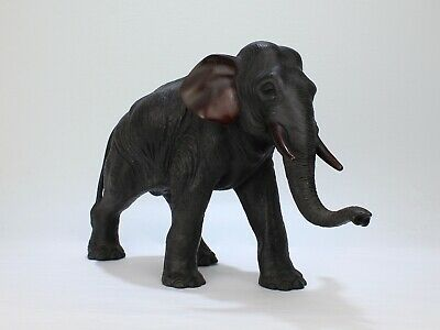 Large Antique Finely Cast Japanese Meiji Period Bronze Elephant Sculpture - BR
