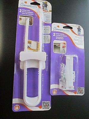 Dreambaby 2 Safety Catches And 2 Sliding Locks For Baby Security