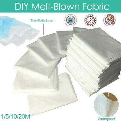 DIY Melt-Blown Nonwoven Fabric FACE Fusible Craft Filter Interlining 1/5/10/20M