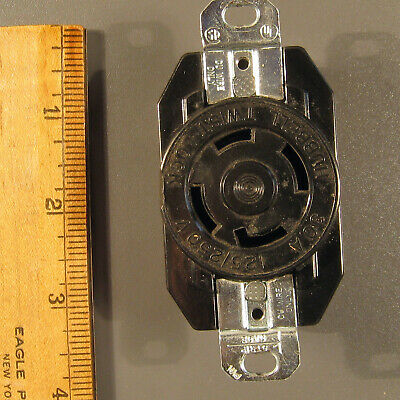 30A 125/250V Twist Lock Receptacle 3 Pole 4 WIRE Grounding Female - Hubbell 2710