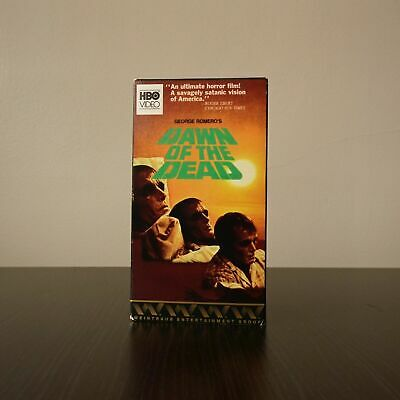 """VHS """"DAWN OF THE DEAD"""" GEORGE A. ROMERO zombies/cult/horror HBO VIDEO"""