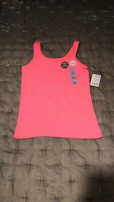 Girls Age 7-8 Years Primark Neon Pink Vest Syle Top New With Tag