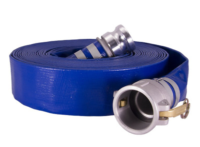 """2"""" x 50' Discharge Hose w/ Camlock Fittings, Dewatering, Pond, Construction"""